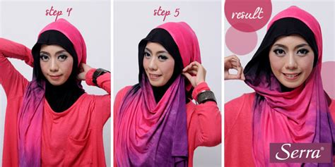 jilbab cantik warna pink tutorial hijab