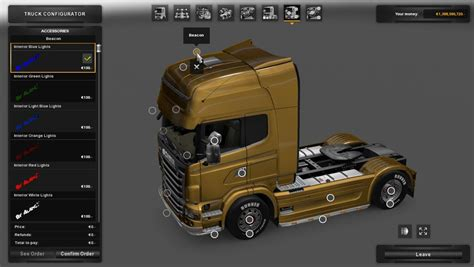 renault truck premium interior light 1 22 x ets2 euro truck simulator 2 mods