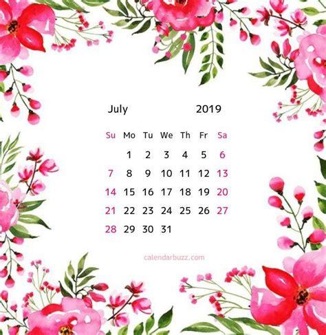 july  floral calendar   floral printables