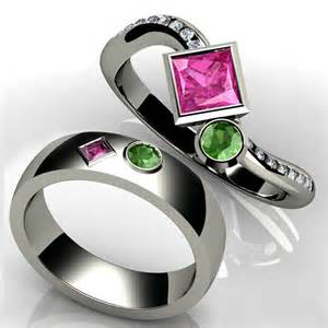 birthstone wedding rings precious princess birthstone engagement ring and wedding bands
