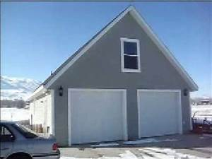 Pole Barn Blueprints Free G X Detached Garage SDS Plans