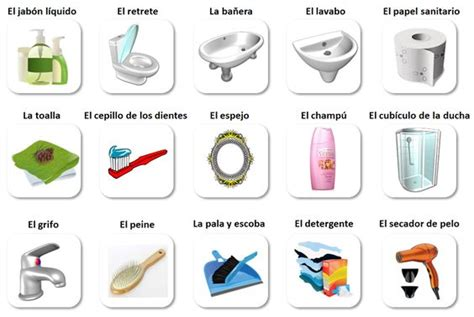 Baňo Vocabulario  Bathroom Vocabulary In Spanish