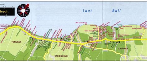 bali tourist map lovina beach map