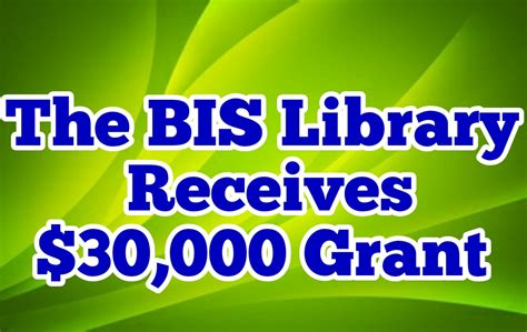 bis receives library grant baker intermediate school