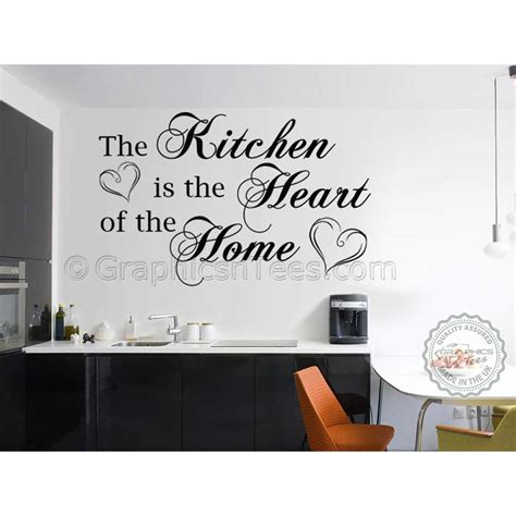 kitchen is the of the home family wall sticker kitchen dining room