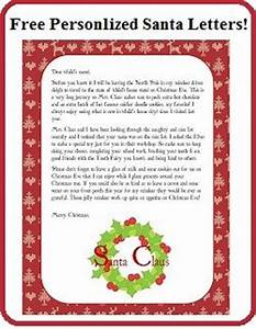 Enchanted homeschooling mom free personalized printable for Personalised santa letter printable