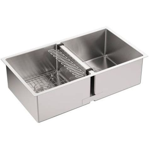 kohler strive undermount stainless steel 32 in bowl kitchen sink k 5281 na the home depot