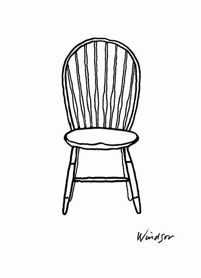Drawing Chair Chairs Furniture Sketches Animation Windsor