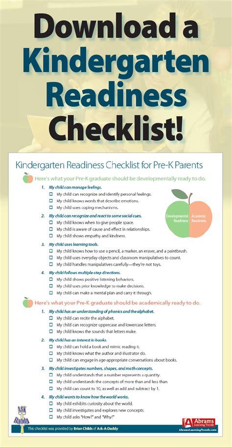 kindergarten readiness checklist for pre k parents 895   88a349a3e0e8df642e457bc7f8c1f7f3
