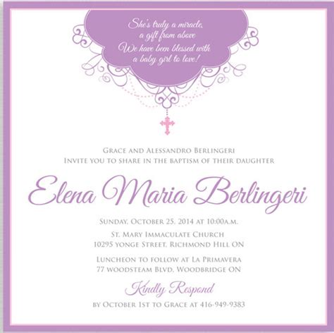 30+ Baptism Invitation Templates Free Sample Example