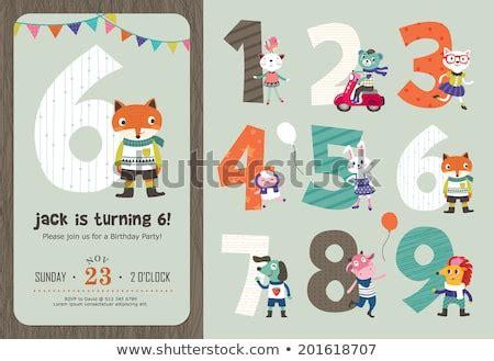 Birthday Anniversary Numbers With Cute Animals & Birthday