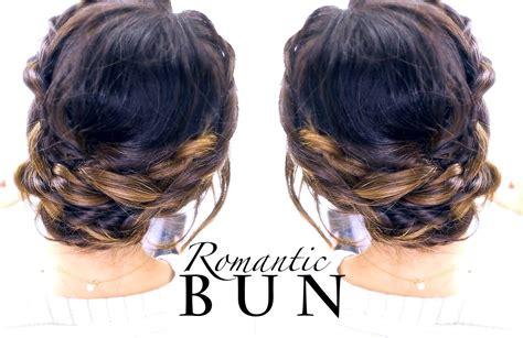 Romantic BRAID BUN Hairstyle   Summer Updo Hairstyles