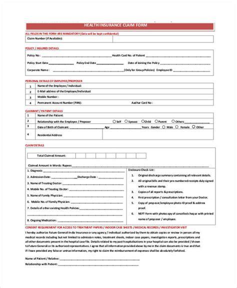 united healthcare insurance claim form free claim form