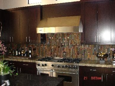 rust color slate kitchen backsplash kitchen