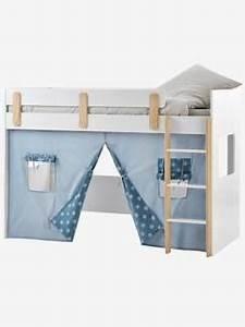 Lit Cabane Mezzanine : lits enfants et b b meubles rangements enfants et b b s vertbaudet ~ Melissatoandfro.com Idées de Décoration