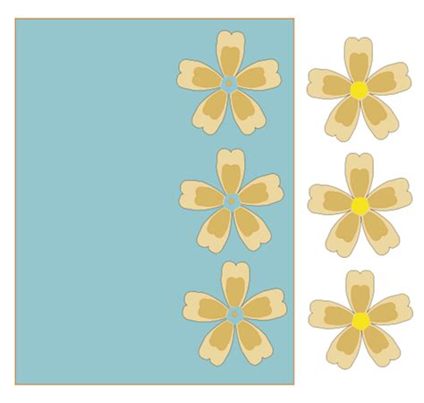 Flower Pop Up Card Templates by Creating In Carolina Flower 3 D Pop Up Card Template