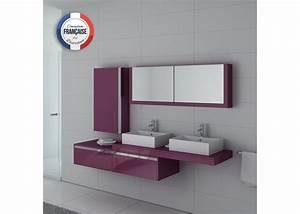 meuble salle de bain ref dis9551au With meuble salle de bain bordeaux