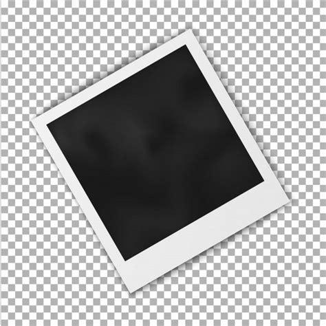 realistic blank photo frame polaroid frame isolated