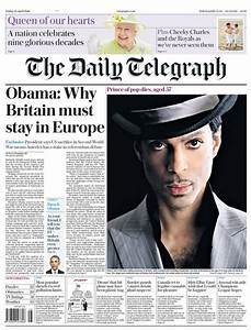 Prince dominates the front pages of today's newspapers in ...
