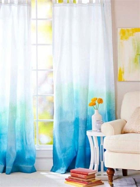ombre blue curtains 14 gorgeous diy curtain ideas lovely etc