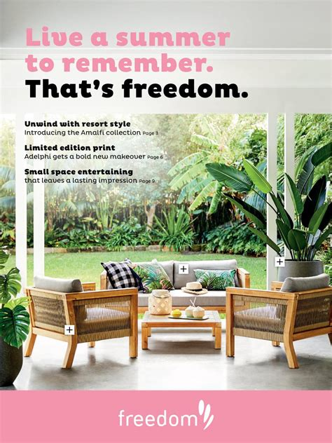 freedom furniture outdoor catalogue  sep  mar