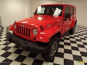 2013 Rock Lobster Red Jeep Wrangler Unlimited Rubicon 4x4