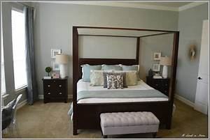 White Bedroom With Dark Furniture House Beautifull Living ...