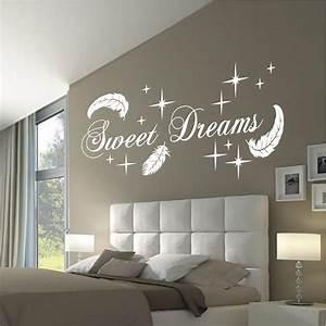 Wandtattoo Für Schlafzimmer : wandtattoo wandaufkleber sweet dreams federn deko schlafzimmer flur motiv 767 xl ebay ~ Buech-reservation.com Haus und Dekorationen