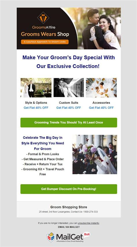 Email Template Shopping by 12 Best Fashion Email Templates For Designer Dresses