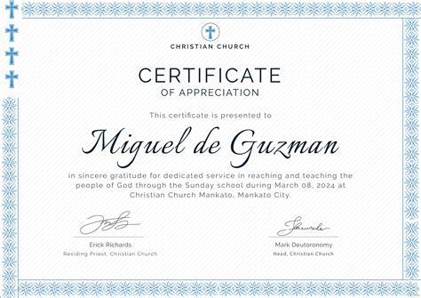 pastor appreciation certificate template  adobe