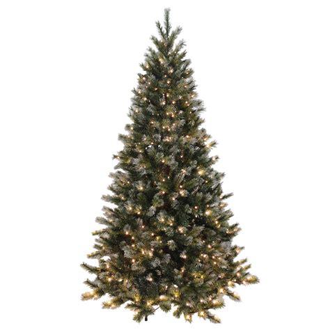 green light christmas tree green glitter pine artificial pre lit warm white lights