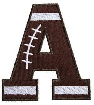 iss football applique font  uppercase letters    sizesx hoop