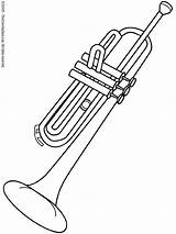 Coloring Pages Trombone Instruments Musical Trumpet Results sketch template