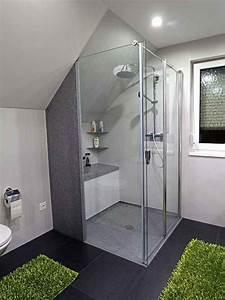 Dachschräge Berechnen : bodenebene dusche mit einseitig wegfaltbarer duschkabine designklickboden wenig fugen 24h ~ Themetempest.com Abrechnung