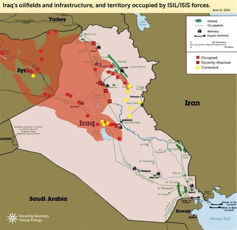 map shows  violence  iraq  threaten  oil