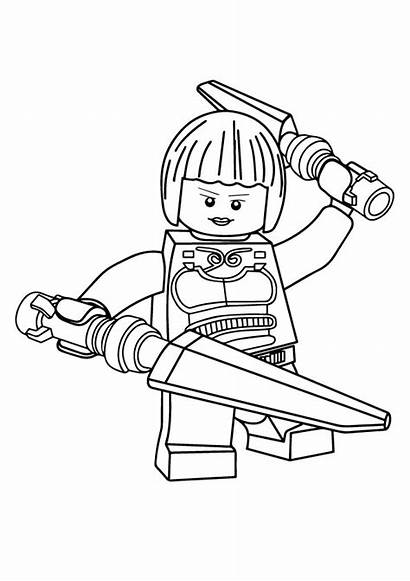 Ninjago Coloring Ninja Lego Nya Ausmalbilder Printable