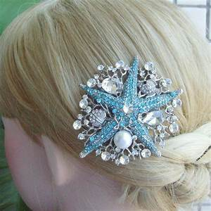 VanessaJewel Wedding Headpiece Rhinestone Crystal Starfish