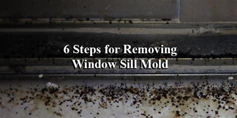 removing mold   window sill renewal  andersen