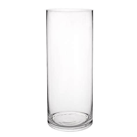 vase en verre vase cylindrique en verre h 40 cm maisons du monde