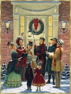 Old Christmas Carolers Illustrations