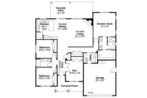 ranch house plan 108 1754 3 bedrm 1864 sq ft home