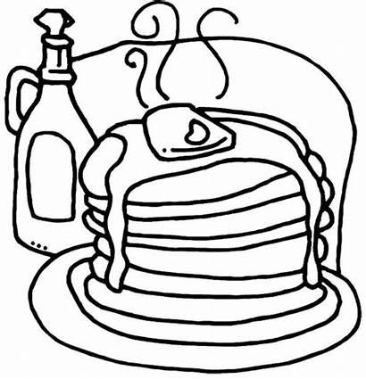 Pancake Coloring Pancakes Pages Pajama Party Pig
