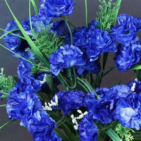 carnation flowers royal blue silk flowers factory