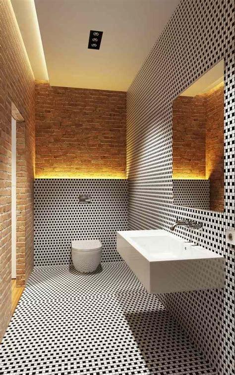 Kleines Badezimmer Ohne Fenster by Bad Ohne Fenster Schwarz Wei 223 E Mosaik Backsteinwand