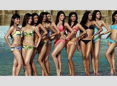 Miss World Pageant Cutting Swimsuit From Competition Video
