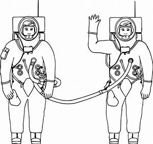 Tethered Together - Astronauts Clip Art at Clker.com ...