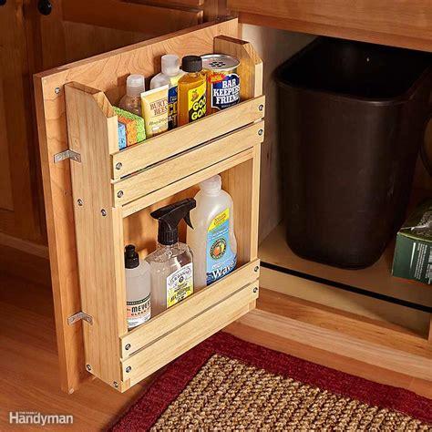inspiring  cabinet door storage ideas