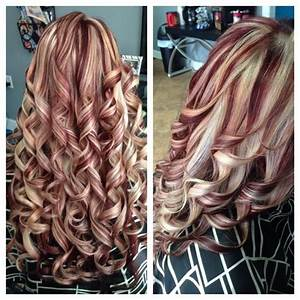 Blonde Highlights & Red Lowlights - Hair Colors Ideas