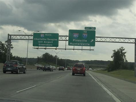 Exit 30 To I 77 I 85 North Charlotte North Carolina