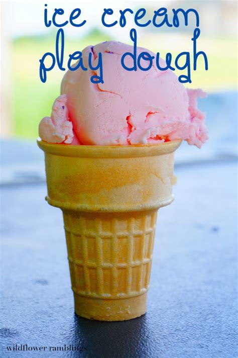 ice cream play dough  months  sensory dough